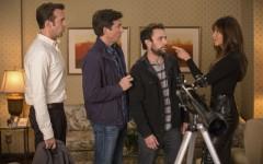 Above: Jason Sudeikis, Jason Bateman, Charlie Day and Jennifer Aniston star in 'Horrible Bosses 2'