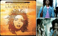 "Above clockwise: 'The Miseducation Of Lauryn Hill' album cover, the ""Everything Is Everything"" music video and the ""Doo Wop (That Thing)"" music video"