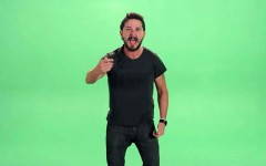 Above: Watch Shia LaBeouf yelling for a minute straight