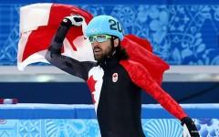 Canadian Charles Hamelin took home gold in the men's 1500 metres short track speed skating