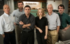 Above: The star-studded cast of 'Spotlight'