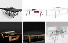 Above:  1) Ephemeralist, POPP / 2) You & Me, POPP / 3) Conference table/table tennis, Poppin / 4) Custom, Dept. of Energy / 5) Limited Edition, James Perse / 6) Glass DIY version