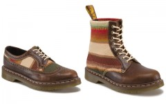 Above: The Dr. Martens x Pendleton collection's 1460 8-eye Boot and 3989 Brogue shoe