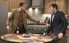 Above: After 12 seasons CBS' 'Two and a Half Men' recently wrapped up