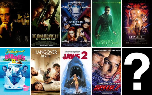 What movie has the most sequels