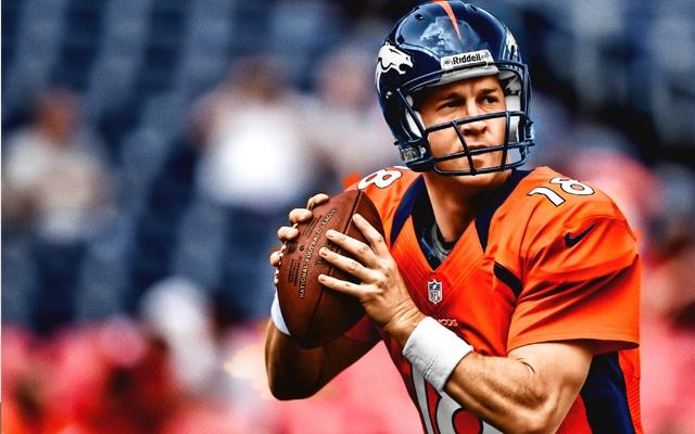 Above: Denver Broncos quarterback Peyton Manning
