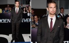 Above: Theo James at the 'Divergent' premiere in Los Angeles