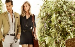 Above: Dave Genat and Toni Garrn for Massimo Dutti
