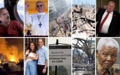 Above: 10 of the top news stories of 2013