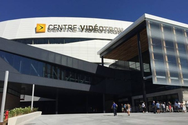 Above: Quebec City's seven-storey-high, 18,000-seat Videotron Centre opened its doors in September