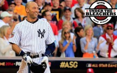 Above: Derek Jeter doesn't take the All-Star Game too seriously