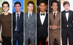 Above: Our picks for the new Spider-Man, (from left to right) Dylan O'Brien, Logan Lerman, Ansel Elgort, Alfred Enoch, Miles Teller, and Freddie Highmore