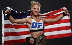 Above: Holly Holm's stuns Ronda Rousey with 2nd-round knockout