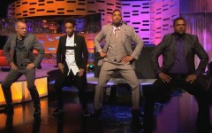L-R: Graham Norton, Jaden Smith, Will Smith and Alfonso Ribiero perform on The Graham Norton Show (Photo: YouTube/BBC One)