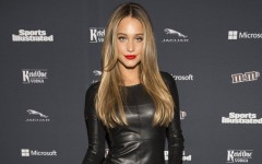 Above: Hannah Davis on the red carpet