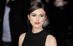 Above: Keira Knightley on the red carpet