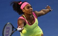 Above: Serena Williams