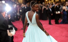 Above: Lupita Nyong'o on the red carpet at the 2014 Academy Awards