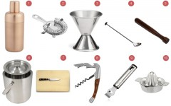 Above: 10 essentials for your home bar