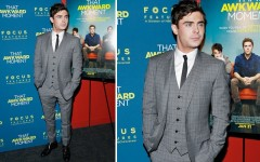 Zac Efron at the 'That Awkward Moment' premiere in New York City