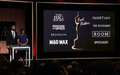 Above: Actor John Krasinski and Academy of Motion Picture Arts and Sciences President Cheryl Boone Isaacs announce the Oscar nominees for Best Picture