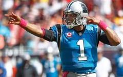 Above: Carolina Panthers quarterback Cam Newton