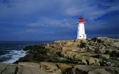 Above: Peggy's Cove is one of the most popular tourist spots in Nova Scotia and the lighthouse may be the most photographed in the world