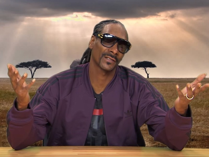 Above: Thousands have signed a petition for Snoop Dogg to narrate full episodes of 'Planet Earth'
