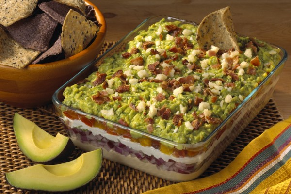 Above: Layered Arugula Guacamole Dip