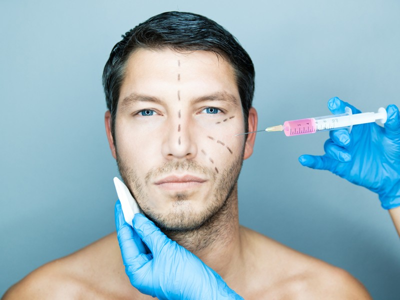 Above: The growing trend of men and cosmetic procedures