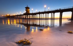 Above: The Huntington Beach Pier in Huntington Beach, California