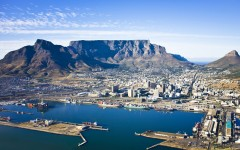Above: An aerial view of Cape Town city centre