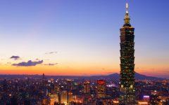 Above: The skyline of Taipei, the vibrant capital of Taiwan,
