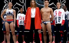 Above: Stella McCartney and her Team GB Olympic kit in London in April 2016