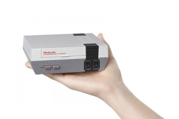 Above: Nintendo is bringing back the NES — only a little bit smaller