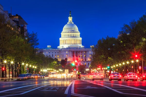 Above: The United States Capitol building in Washington DC