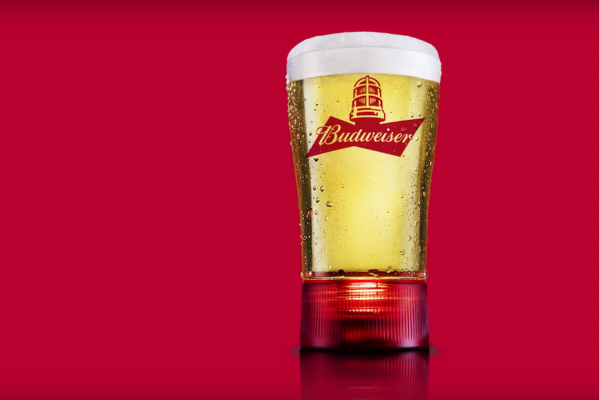 Above: Budweiser's new Goal-Synced Glass