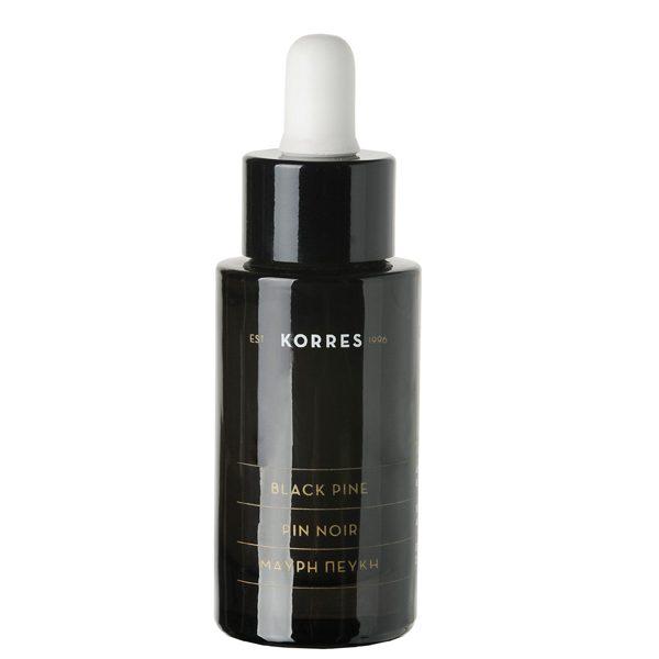 Above: Korres Black Pine Active Firming Sleeping Oil