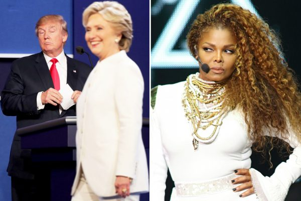 """Above: Janet Jackson's 'Nasty' soars on Spotify after Trump's """"nasty woman"""" debate comment"""