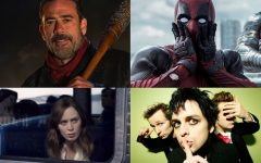 Above: 'The Walking Dead', 'Girl On The Train', 'Deadpool' and Green Day are heading your way this month