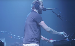 Above: Justin Vernon leads the show at Brooklyn's Pioneer Works
