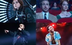 Above: 'Rogue One', 'La La Land', Drake, and Childish Gambino, are headed your way this month