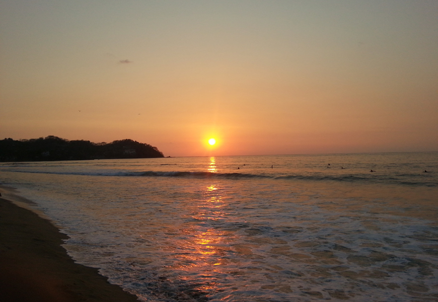 Above: The sunset in Sayulita, Mexico