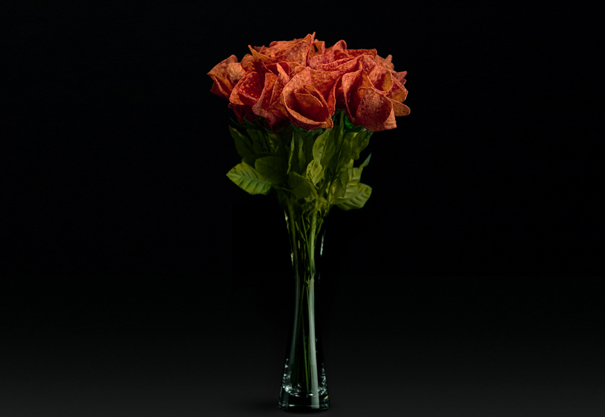 Above: Just in time for Valentine's Day, Doritos Ketchup Roses are making a grand return
