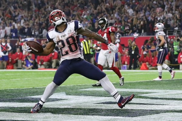 James White during the NFL Super Bowl LI football game on Sunday, Feb. 5, 2017 in Houston. (Perry Knotts/NFL)