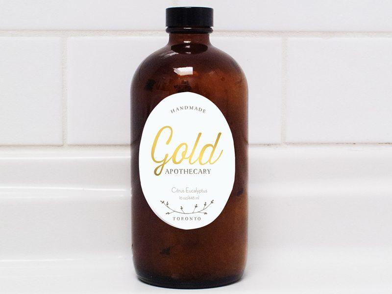 Above: Gold Apothecary Bath Salt