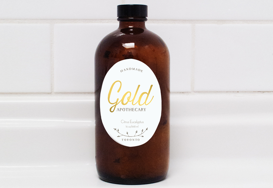 Above: Gold Apothecary Bath Salt