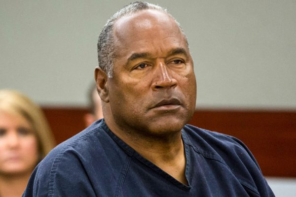 Above: O.J. Simpson in a Las Vegas courtroom in 2013