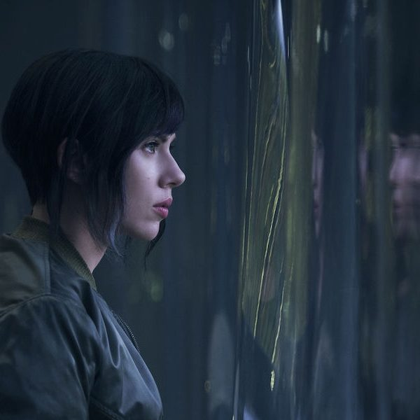 Above: Scarlett Johansson is Major in 'Ghost in the Shell'