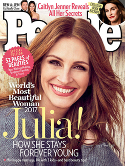 People Names Julia Roberts World's Most Beautiful Woman For Record 5th Time - 2